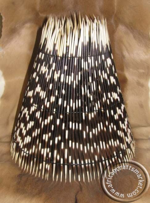 African porcupine quill lamp shade porcupine quill african sun lamp shade greentooth Choice Image