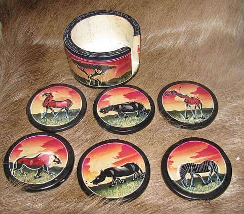 African soapstone coasters