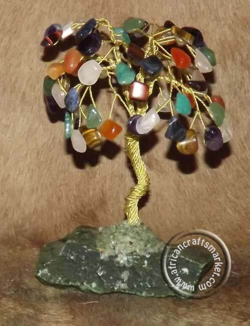 African various gemstone tree
