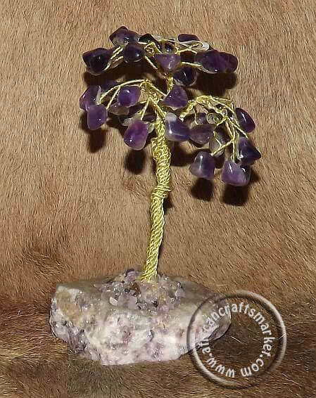 African Amethyst gemstone tree