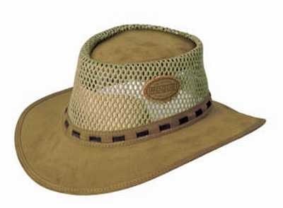 2c32739072c African Suede Mesh Bush Hat (Old Khaki)