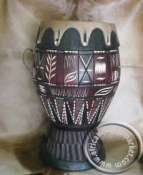 African Wooden Zulu Drum