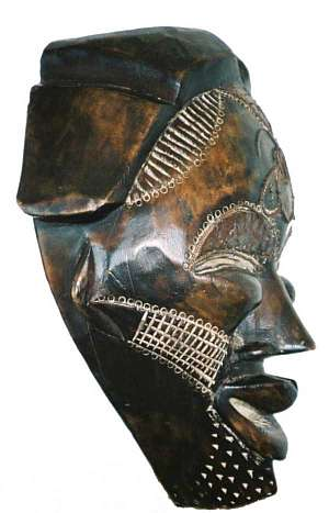 African Tikar mask side view