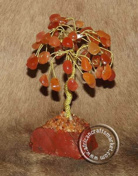 African Calcite gemstone tree