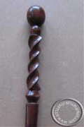 African hand carved wooden twisted walking stick