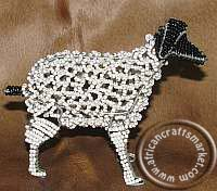 African wire beaded sheep