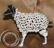 African handcrafted wire beaded Sheep