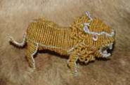 African handcrafted wire beaded Lion