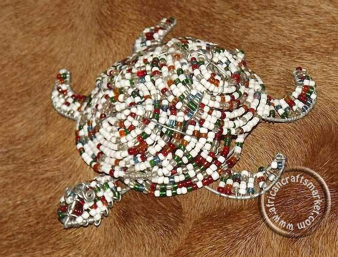 African beaded wire turtle