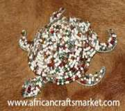 African handmade wire turtle