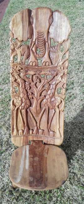 African hand carved chair
