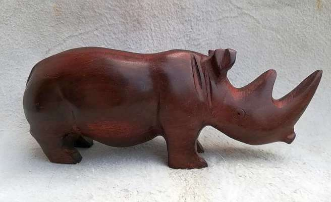African hand carved Rhino