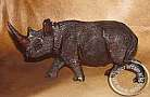 African hand carved wooden Rhino