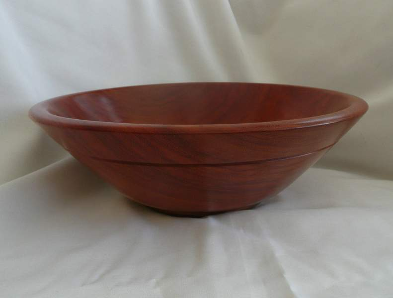 African Handcrafted Wooden Round Bowl