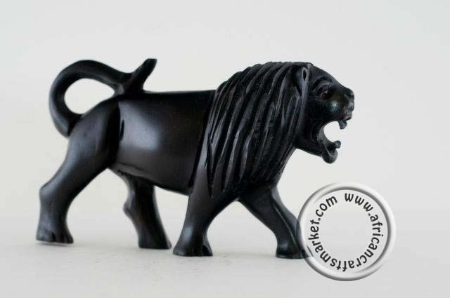 African Hand Carved Ebony Wood Animals