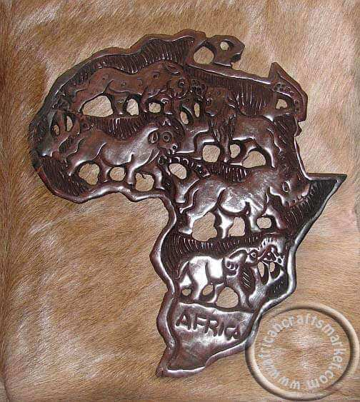 African Ebony wood map