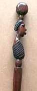 African Iron wood face cane