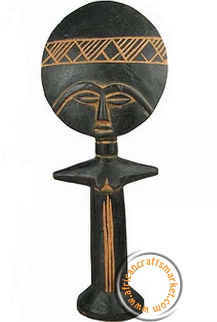 African Ashanti Fertility Doll From Ghana