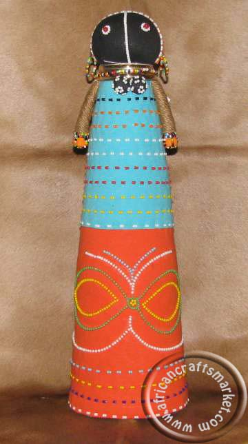 African Ndebele ceremonial doll