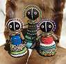 African Beaded Ndebele dolls