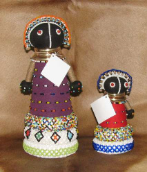 African Ndebele fertility doll