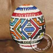 Ndebele beaded ostrich egg