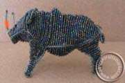African handcrafted wire beaded Rhino