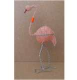 African handcrafted wire beaded Flamingo