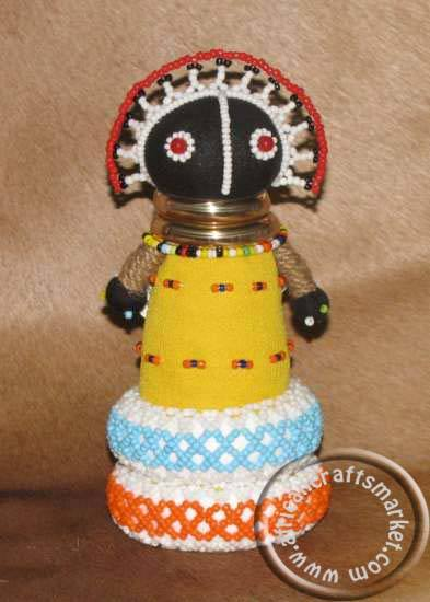 African Ndebele beaded fertility doll