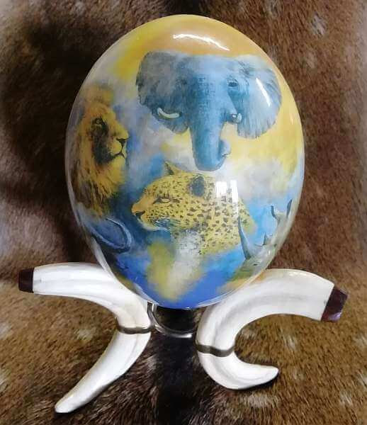 Decoupage Ostrich Egg -big 5
