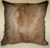 Blesbok hide cushion