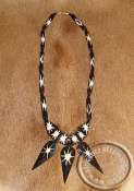 African Zebra Bone Necklace's