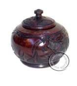 African Ebony wood sugar bowl pot