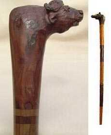 African Buffalo handle cane