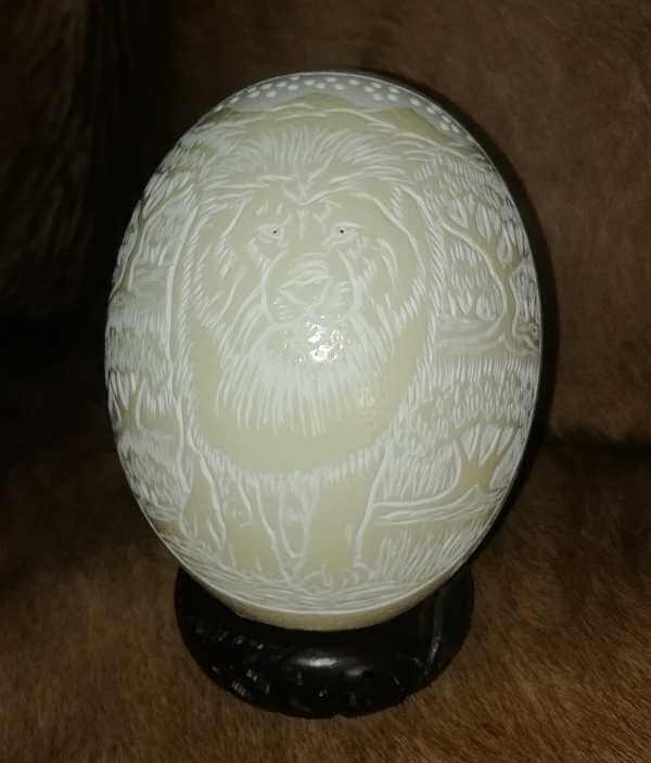 Carved Ostrich Eggs For Sale