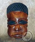 African iron wood tribal mask