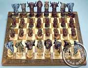 Big 5 Animals African Chess Sets