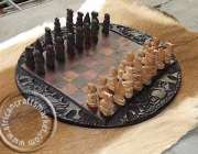 African Wooden Zulu African Chess Sets