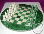 African Malachite African Chess Sets