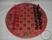 Soapstone African Chess Set - Round