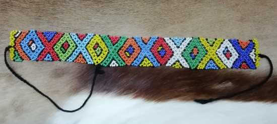 African Zulu beaded choker necklace