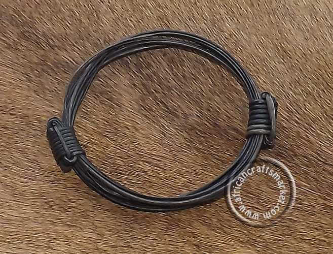African Elephant Hair Bracelet 2 Knot