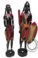 African Maasai warrior couple