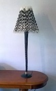 African lights and lamp shades gemsbok horn porcupine quill standing lamp aloadofball Choice Image