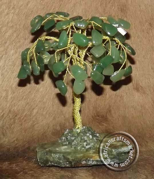 African Aventurine gemstone tree