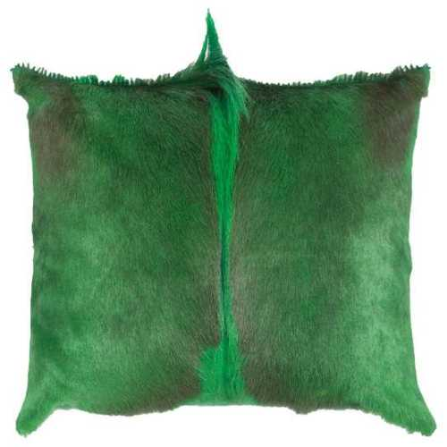 Springbok hide cushion - Green