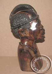African Iron Wood Shona chief side view