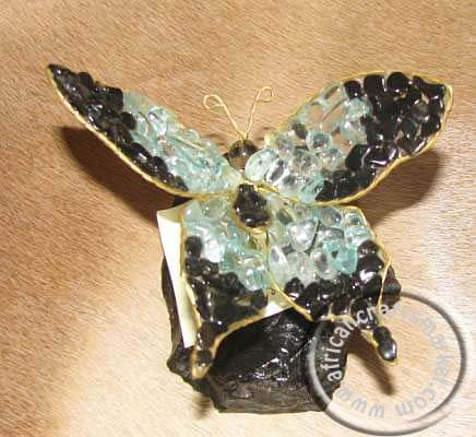 African gemstone butterfly - 10cm