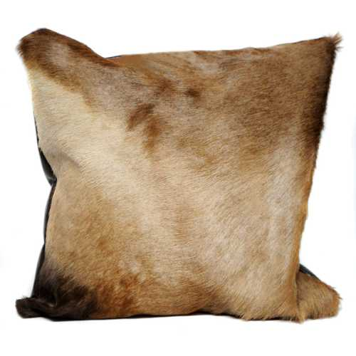 African Hartebeest hide cushion
