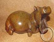 African hand Carved Stone Hippos